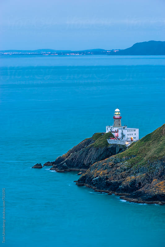 The Baily Lighthouse and Dublin Bay at Twilight, Ireland by Tom Uhlenberg for Stocksy United