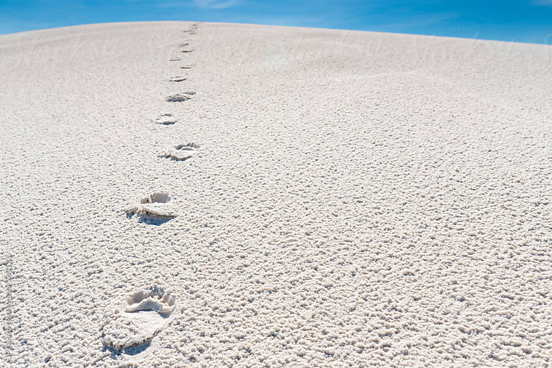 Woman's Footprints in White Sand Dune In White Sands National Monument New Mexico by JP Danko for Stocksy United