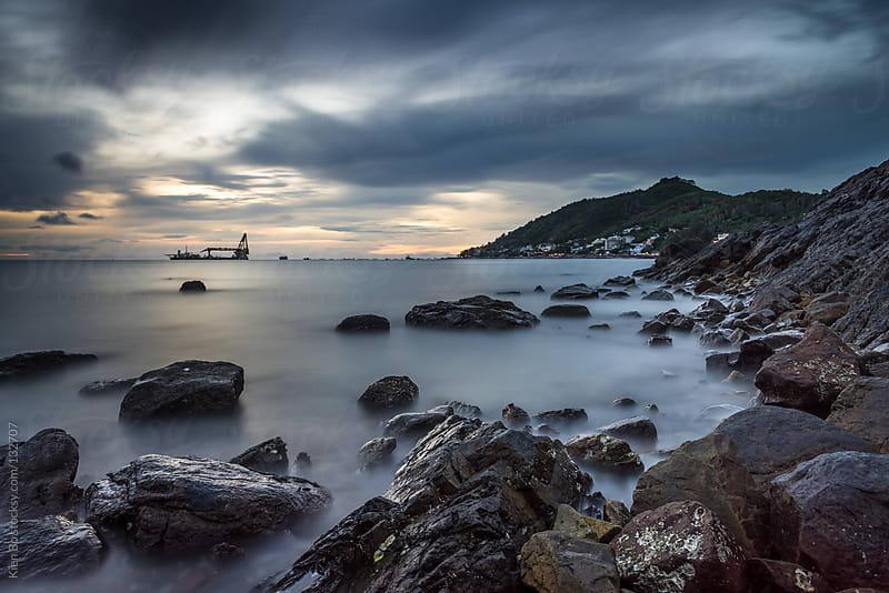 Rocks on sea by Kien Bo for Stocksy United