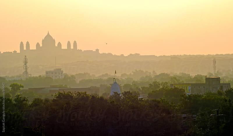 Umaid Bhavan Palace at sunrise,Jodhpur,Rajasthan,India by Saptak Ganguly for Stocksy United