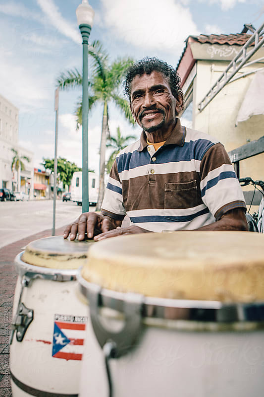 Conga Player in Miami by Stephen Morris for Stocksy United