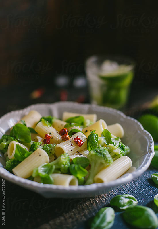 Macaroni with broccoli by Davide Illini for Stocksy United