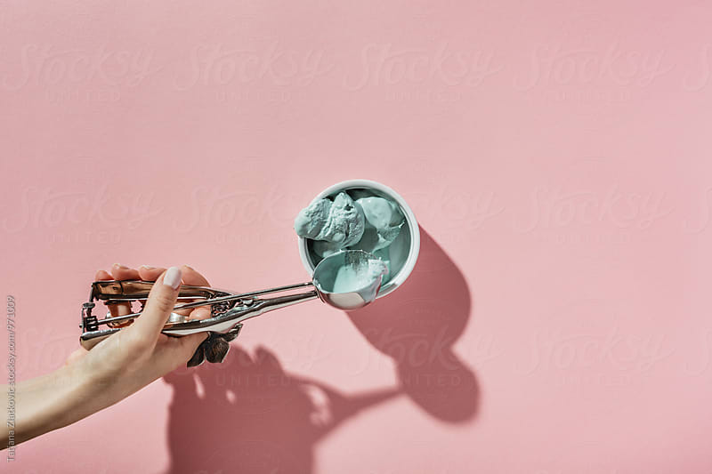 Blue ice cream by Tatjana Ristanic for Stocksy United
