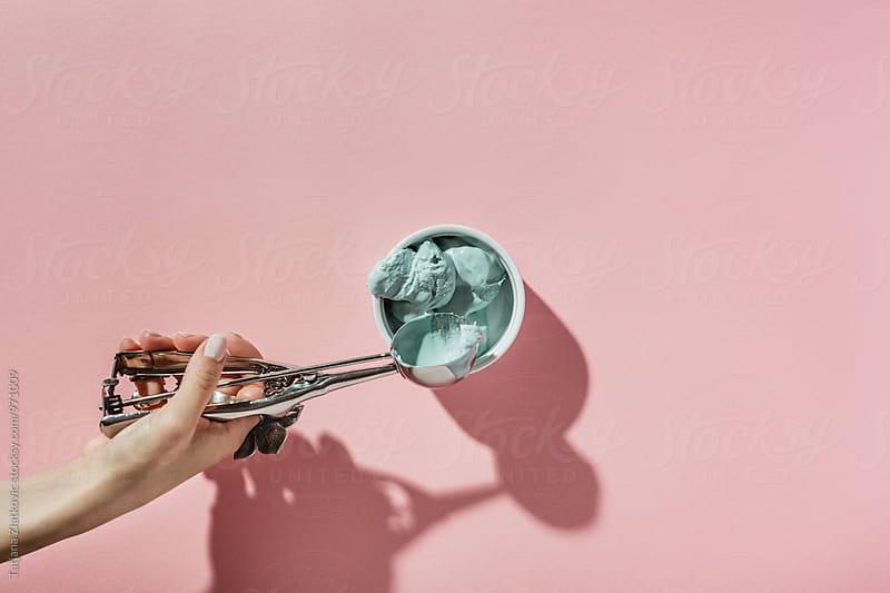 Blue ice cream by Tatjana Zlatkovic for Stocksy United