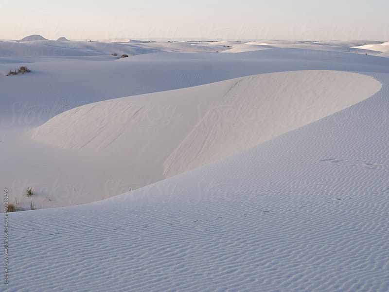 Ridge of sand dune in white sands national monument by Jeremy Pawlowski for Stocksy United