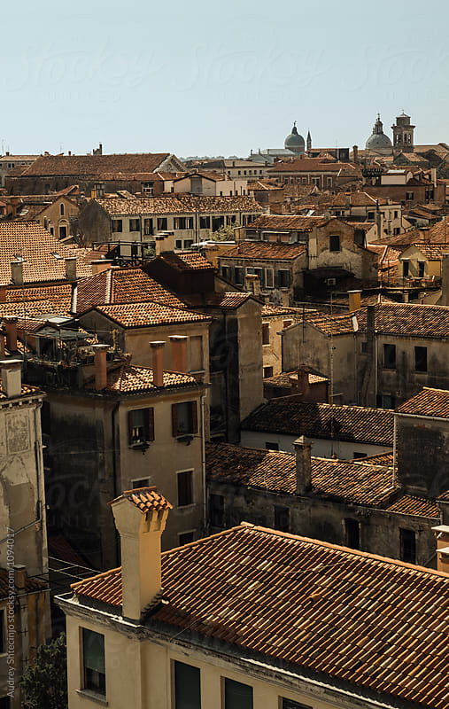 Rustic mediterranean houses rooftops of Venice/look form above. by Audrey Shtecinjo for Stocksy United