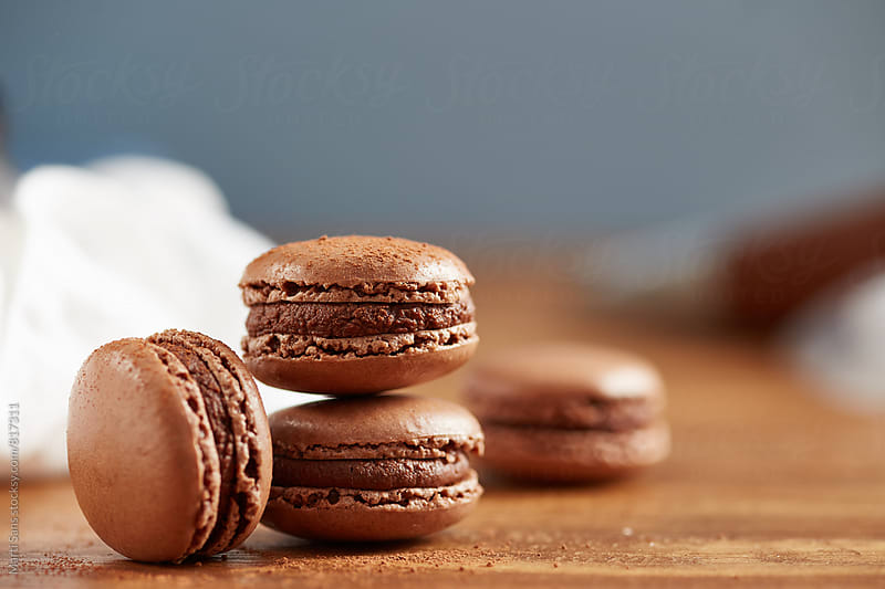 Cocoa French Macaron by Martí Sans for Stocksy United