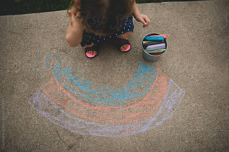 Chalk me a rainbow by Courtney Rust for Stocksy United