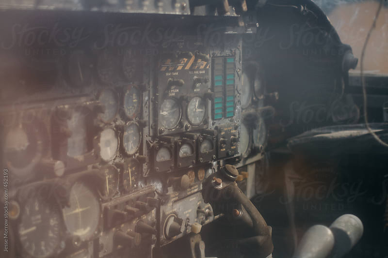 vintage helicopter interior by Jesse Morrow for Stocksy United