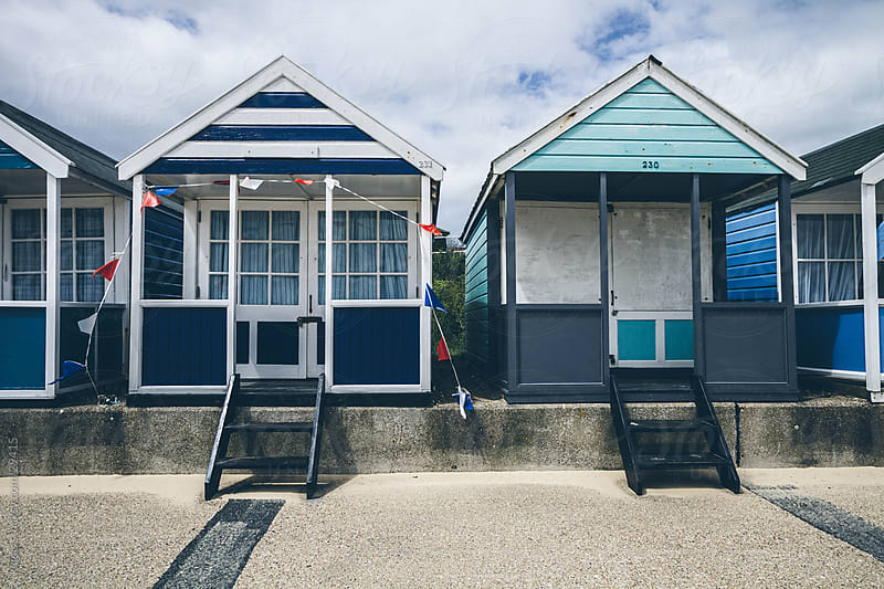 Beach huts on the promenade. by kkgas for Stocksy United