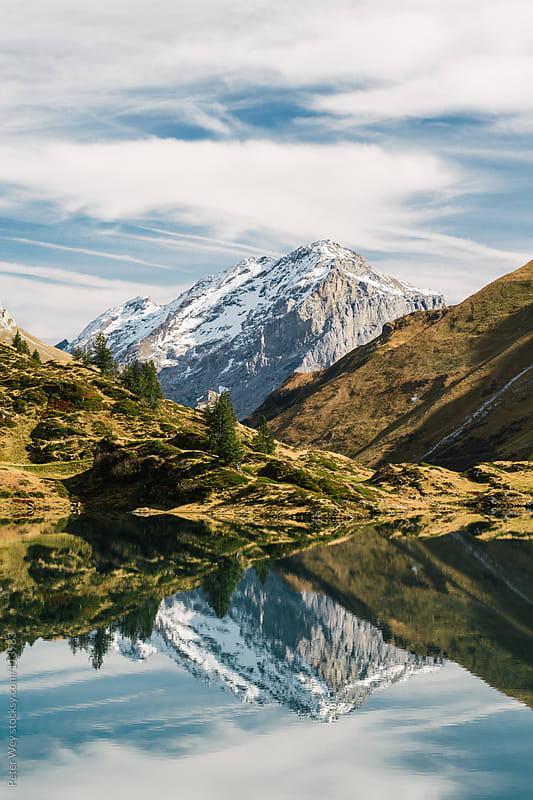 Trüebsee mountain lake panorama by Peter Wey for Stocksy United