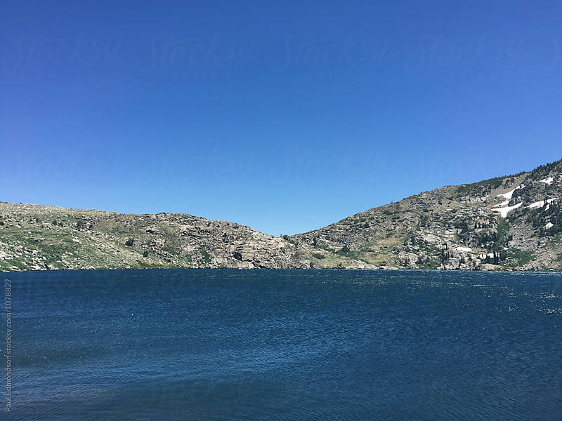 View of Winnemucca Lake, Desolation Wilderness, CA by Paul Edmondson for Stocksy United