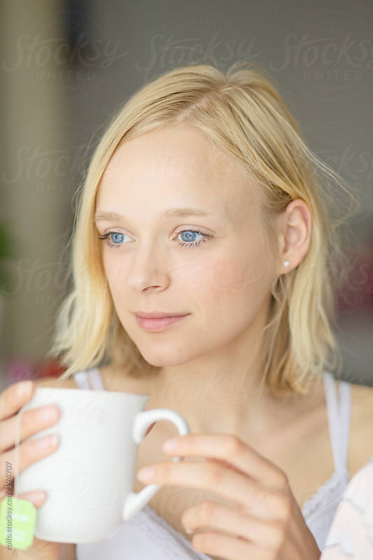 Beautiful Woman with cup by rolfo for Stocksy United