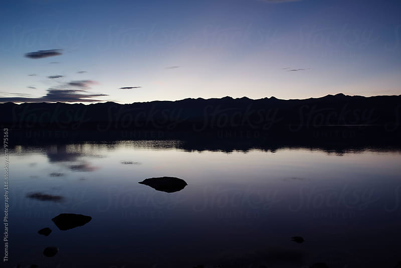 Twilight over Lake Pukaki, near Aoraki / Mt Cook National Park, New Zealand. by Thomas Pickard for Stocksy United