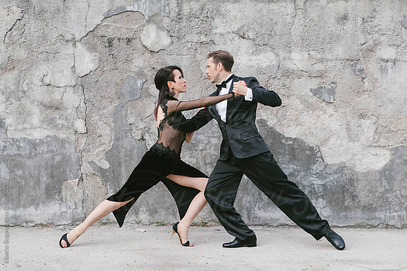 Couple Dancing Argentinian Tango on the street by Alberto Bogo for Stocksy United