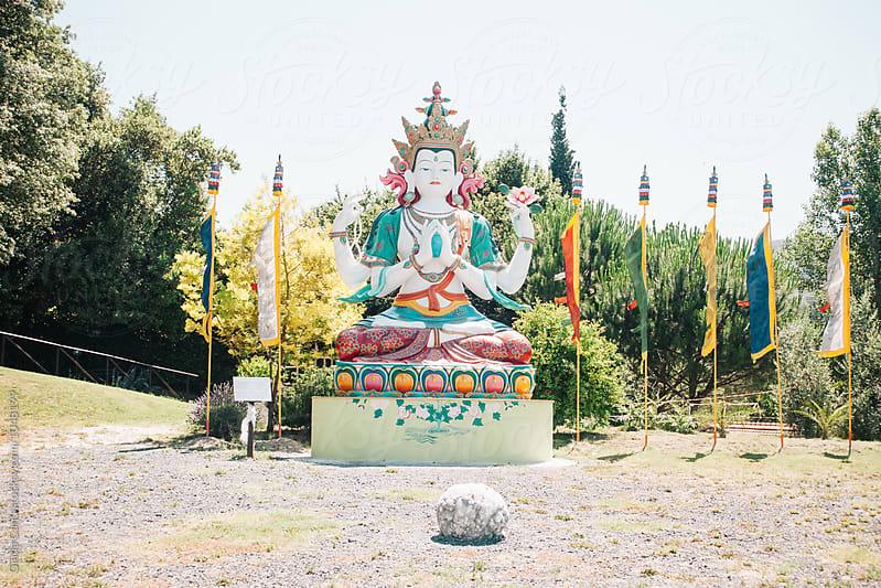 Cenresig (or Avalokitesvara) statue by Giada Canu for Stocksy United