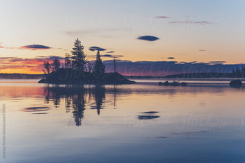 northern lake scenery by Andreas Gradin for Stocksy United