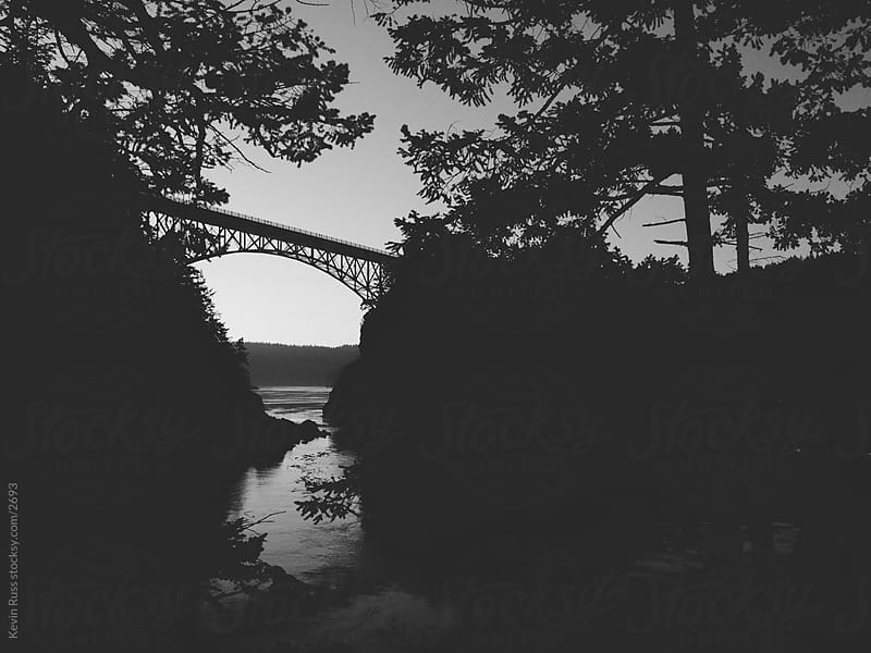 Morning Deception Pass Bridge by Kevin Russ for Stocksy United
