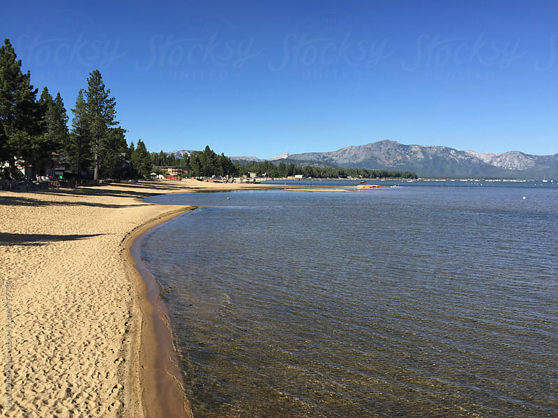 Lake Tahoe shoreline by Paul Edmondson for Stocksy United