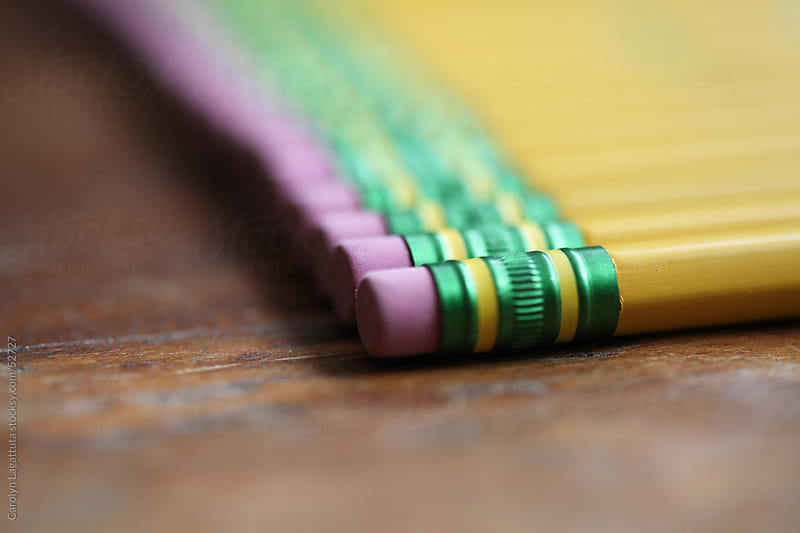 New rows of pencils all lined up by Carolyn Lagattuta for Stocksy United