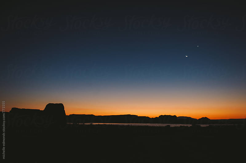Sunrise at Lake Powell by michelle edmonds for Stocksy United