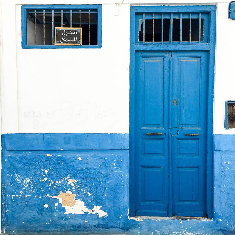 Door and facade by Juanjo Grau for Stocksy United
