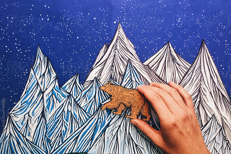 bear and mountains by Paul Schlemmer for Stocksy United