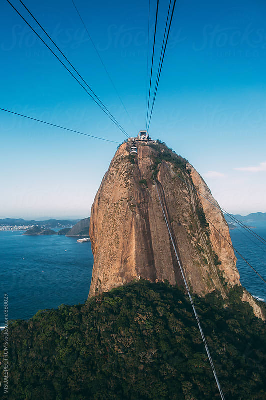 Brazil - Rio de Janeiro's Sugarloaf Cable Car by Julien L. Balmer for Stocksy United