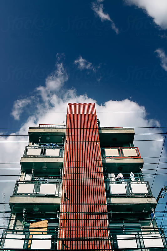 Red Stripe Building by Erik Naumann for Stocksy United