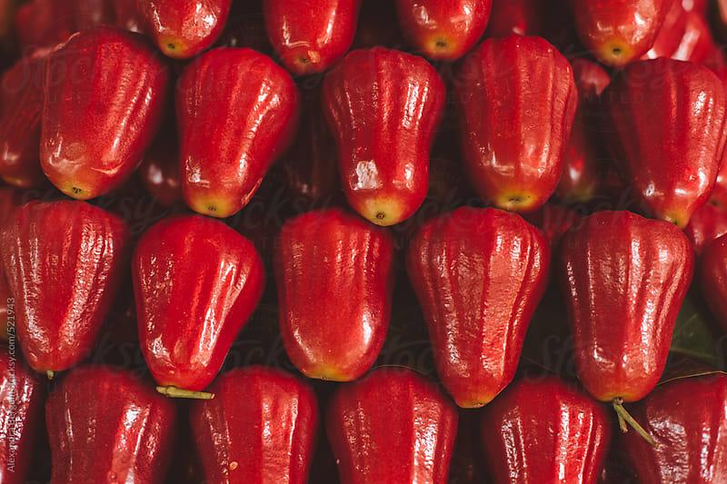 Red Roseapple Thai fruit by Aleksandra Kovac for Stocksy United