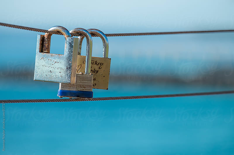 Love Locks at Surfers Pardise, Queensland by Rowena Naylor for Stocksy United