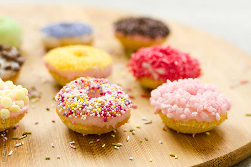 Iced doughnuts by Kirsty Begg for Stocksy United
