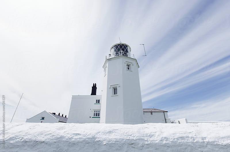 White Lighthouse by Robert Kohlhuber for Stocksy United