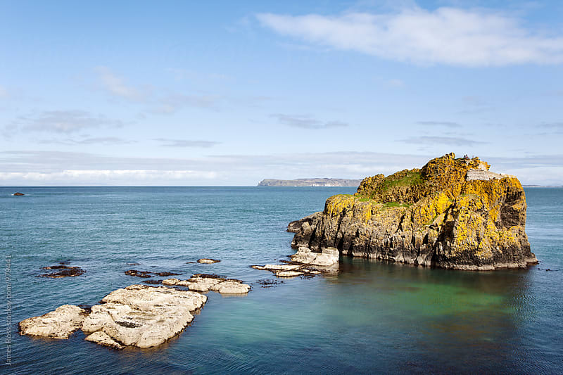 Cliffs and islands off the Antrim Coast by James Ross for Stocksy United