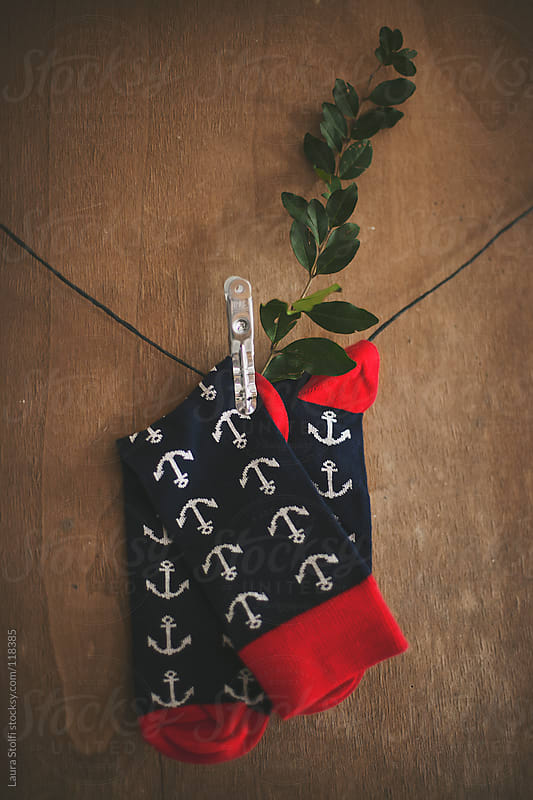 Hipster Christmas stocking  by Laura Stolfi for Stocksy United