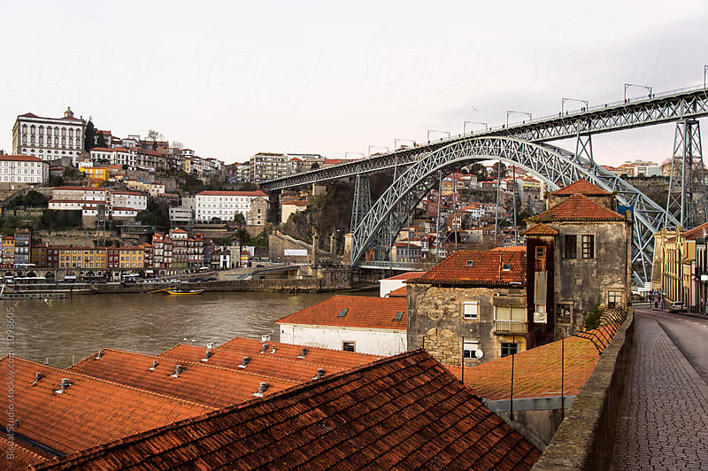 Views of the old town of Oporto and Gaia, Portugal by Bisual Studio for Stocksy United