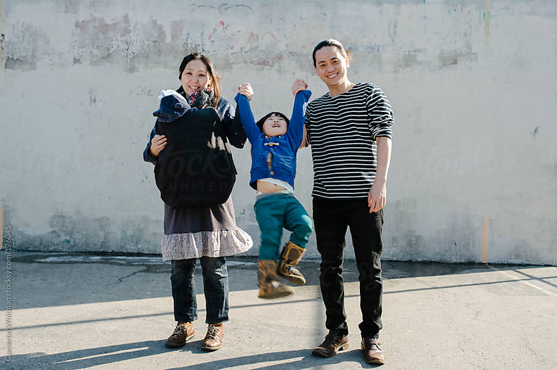 Asian/American Family Portrait by Cameron Whitman for Stocksy United