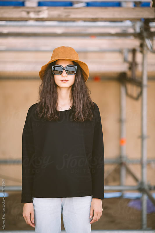 portrait of cool young woman  by Vesna for Stocksy United