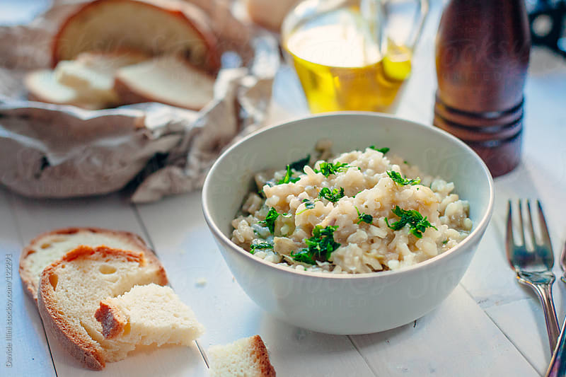 Risotto with artichokes by Davide Illini for Stocksy United