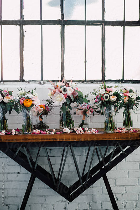 Wedding Floral Arrangements by ZOA PHOTO for Stocksy United