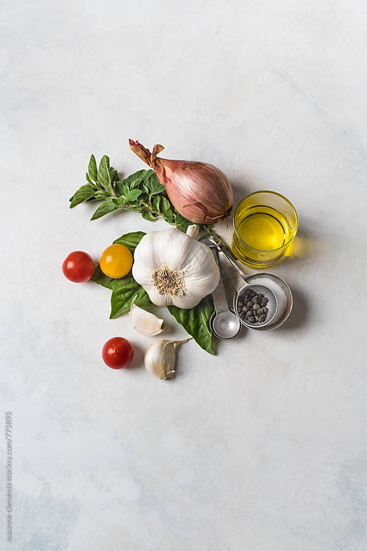 Italian Food Seasonings and Flavors by suzanne clements for Stocksy United