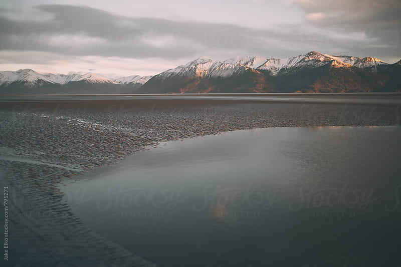 Seward Highway Golden Sun Water by Jake Elko for Stocksy United