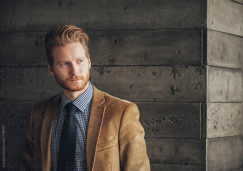 Portrait of Ginger Businessman by Lumina for Stocksy United