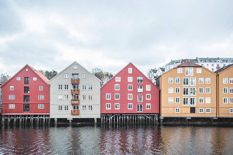 Trondheim houses by Sophia van den Hoek for Stocksy United