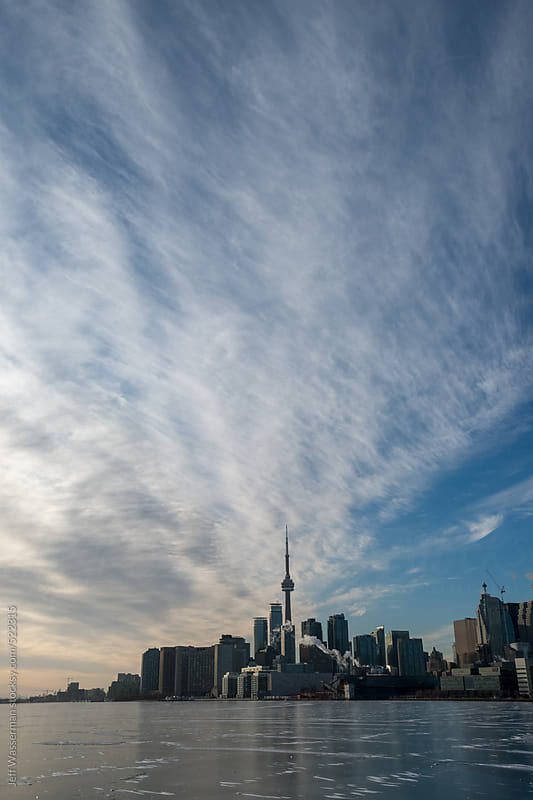 Skyline Toronto in Winter by Jeff Wasserman for Stocksy United