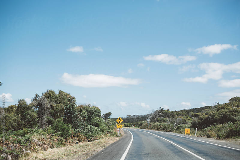 On the road in Australia by Sophia van den Hoek for Stocksy United