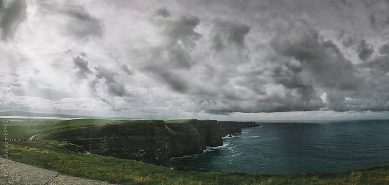 The Cliffs of Moher Panorama. Ireland, Europe. by HEX. for Stocksy United