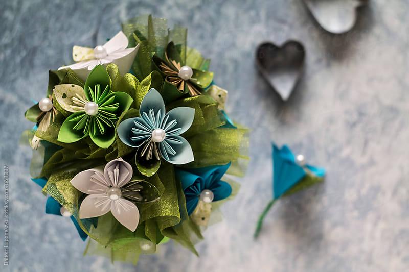 Paper flower bouquet by Viktorné Lupaneszku for Stocksy United