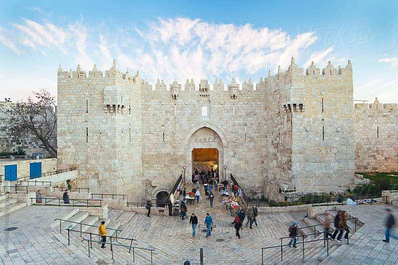 Middle East, Israel, Jerusalem, The Old City, Damascus Gate by Gavin Hellier for Stocksy United