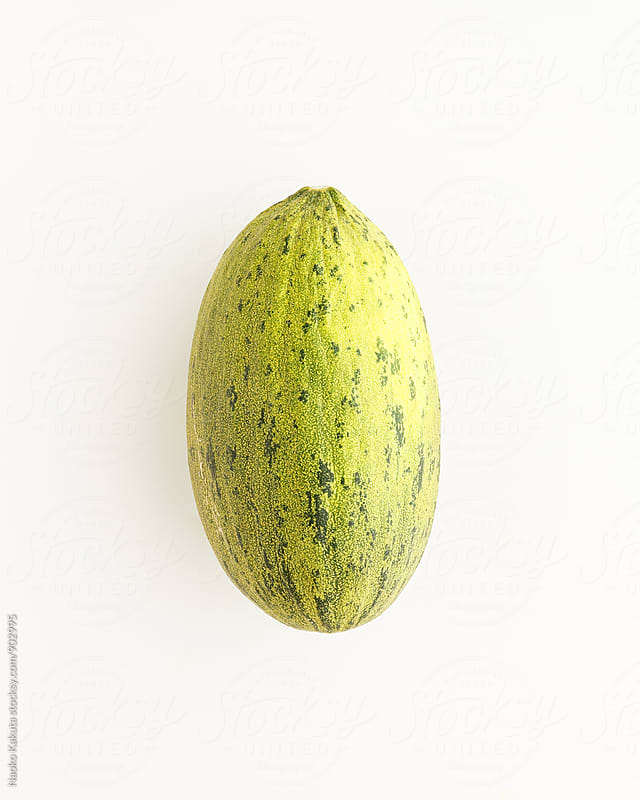 cantaloupe / piel de sapo on white background by Naoko Kakuta for Stocksy United